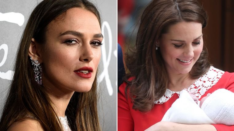 Oh do fuck off keira. Keira Knightley attacks Kate's post-birth appearance  in graphic