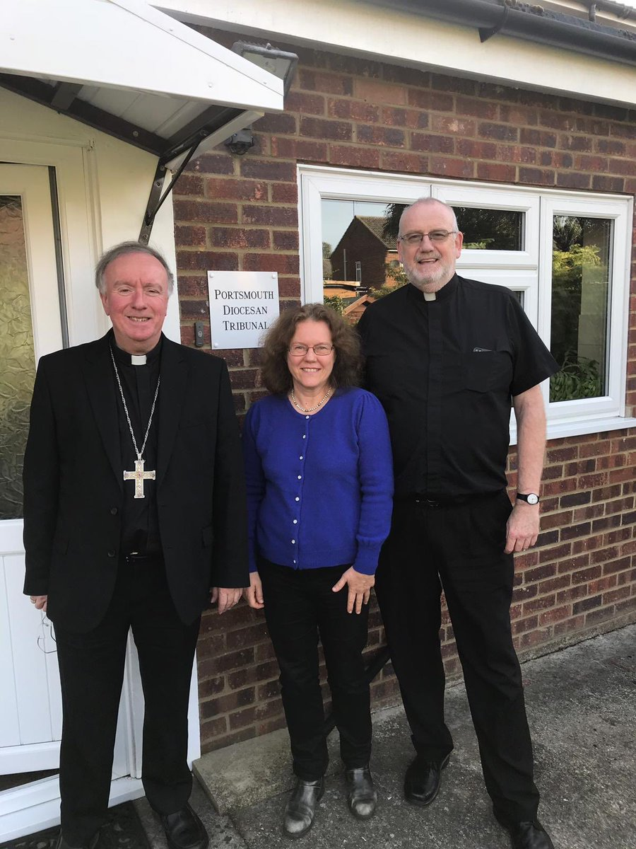 test Twitter Media - During the Visitation of the parish of Yateley and Hartley Wintney, I called into the Marriage Tribunal, over in Crowthorne. Here's me with Fr Simon Thomson, the Judicial Vicar, and Dani Marsden its Administrator. Please pray for them in this really important pastoral endeavour. https://t.co/RWgszSpVyT