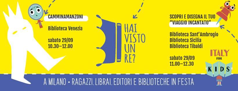 test Twitter Media - sabato 29 settembre dalle 11 alle 12.30 saremo in tre biblioteche di #Milano con un laboratorio per la festa di Hai visto un re? insieme a @Babalibri. Scopri i luoghi, gli editori, le librerie e tutti gli eventi su https://t.co/VEJJh2ZTdg https://t.co/bxr7JkOqRf