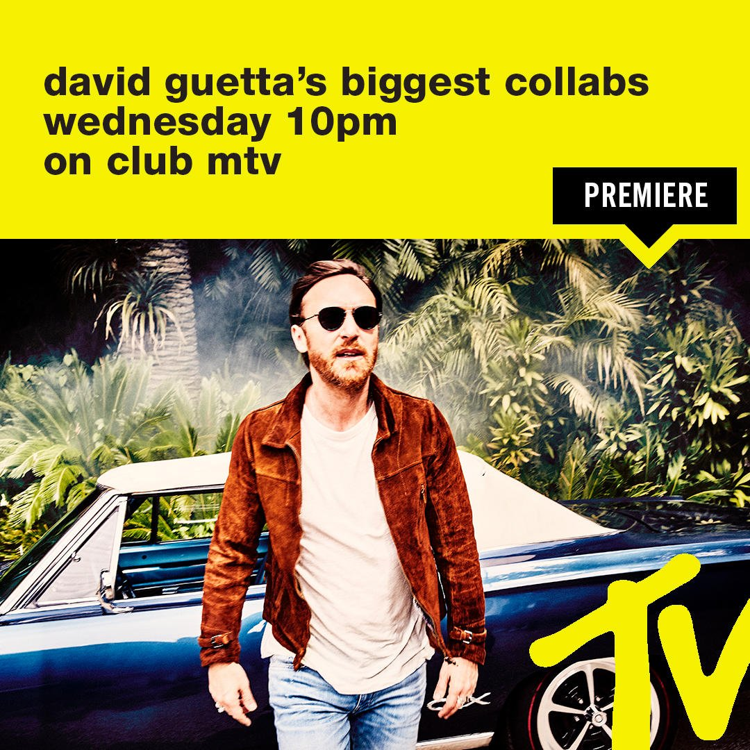 RT @ClubMTV: TONIGHT! @davidguettahosts his own biggest collabs countdown at 10pm on Club MTV ???? https://t.co/KGLvAWwg1F