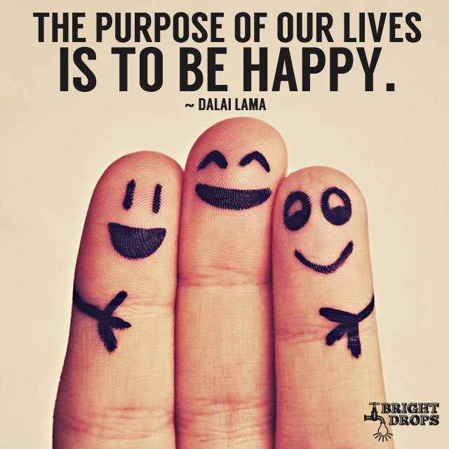 The purpose of our lives is to be happy. #quote #mondaymotivation https://t.co/veVhfXIgUl