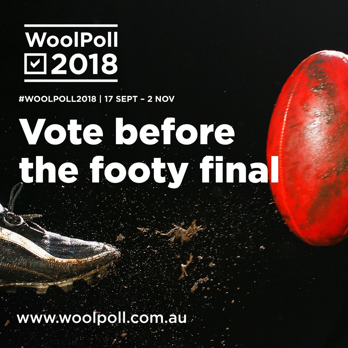 Vote before the footy final #WoolPoll2018...