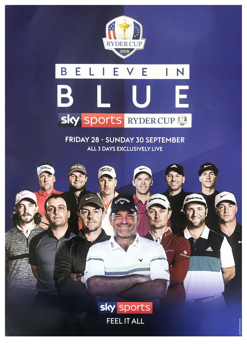 test Twitter Media - Join us over the weekend for live coverage of the 42nd #RyderCup beginning tomorrow!  The countdown is on for one of the finest days in the sporting year. Speculation is filling the air, the only guarantee is that it won't disappoint!  Who will be victorious?  #BelieveInBlue https://t.co/Xia5CFnF9O