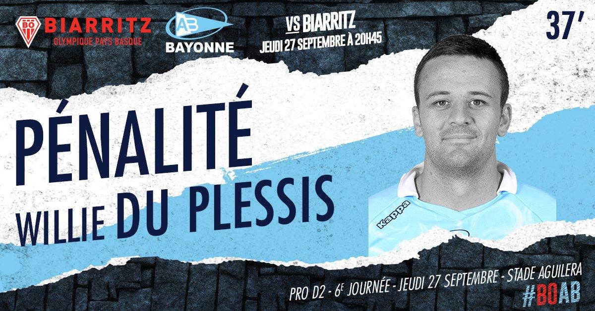 37' W. Du Plessis prend le relais au pied et égalise ! 6-6 ! #BOAB https://t.co/NXIRIW9Ujr