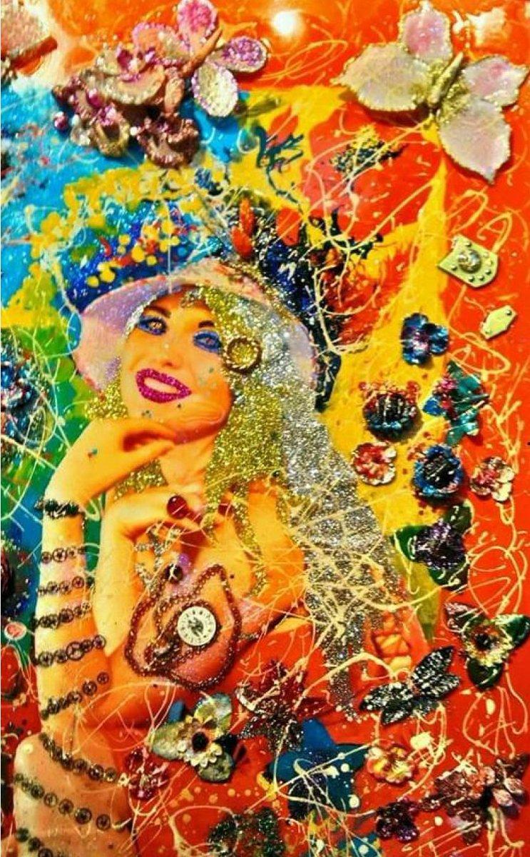 """test Twitter Media - FRANCESCA - IL FASCINO DI DONNA PERVADE IL DIPINTO, TRA I BAGLIORI DI PERLE, FIORI, FARFALLE E PIETRE CHE IMPREZIOSISCONO L'IMMAGINE NELL'ALCHIMIA FANTASTICA DI UN TEATRO DI LUCI E COLORI PER UN NUOVO LINGUAGGIO D'ARTE. """"ultra pop art in progress"""" https://t.co/MTQKfc7AR7"""