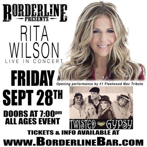 Tonight @RitaWilson!  Thousand Oaks California!  Be there!  Hanx. https://t.co/kwTUl0lO7v