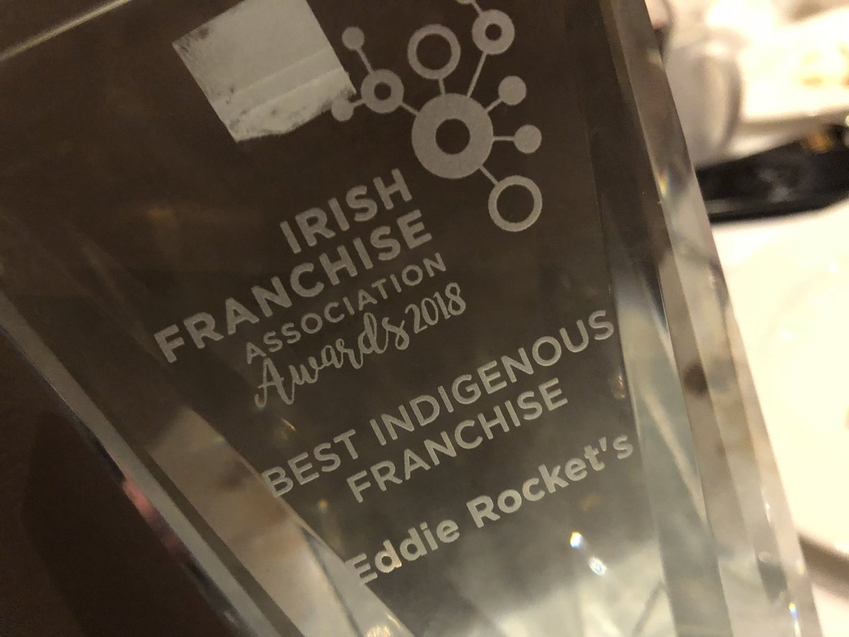 Delighted to take this award home with us tonight!! #irishfranchiseawards https://t.co/URzDpePuXN