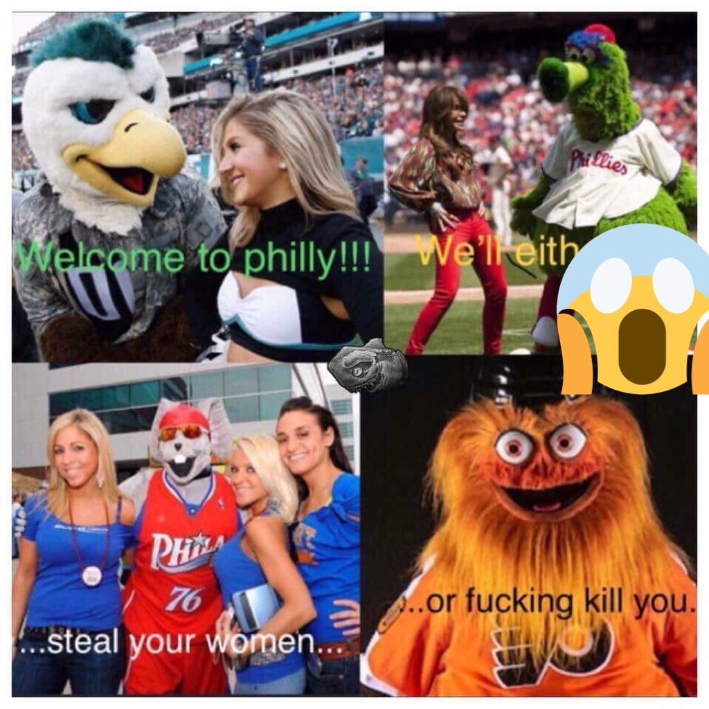 Just for the record as a Philadelphia native.. I am not in support of Gritty - fucking frightening 😳