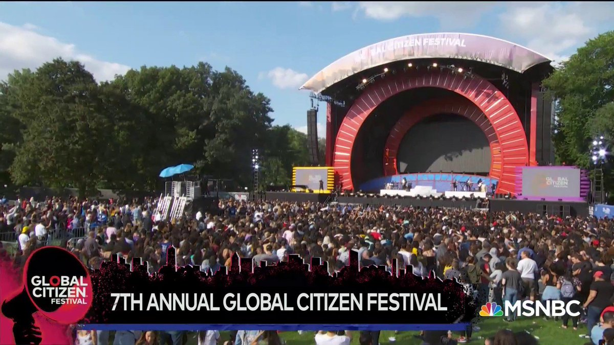 RT @MSNBC: WATCH LIVE: The 2018 #GlobalCitizen Festival starts now! https://t.co/wbv33mic5v https://t.co/jQTIk95RZN