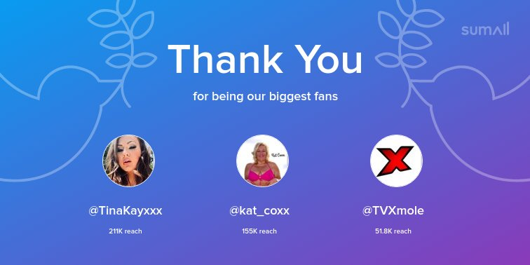 Our biggest fans this week: , , Thank you! via eencTsULXn