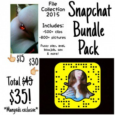 How cool! Just sold Snapchat Bundle Pack! You can get yours here zeYsagjUAl #MVSales #ManyVids