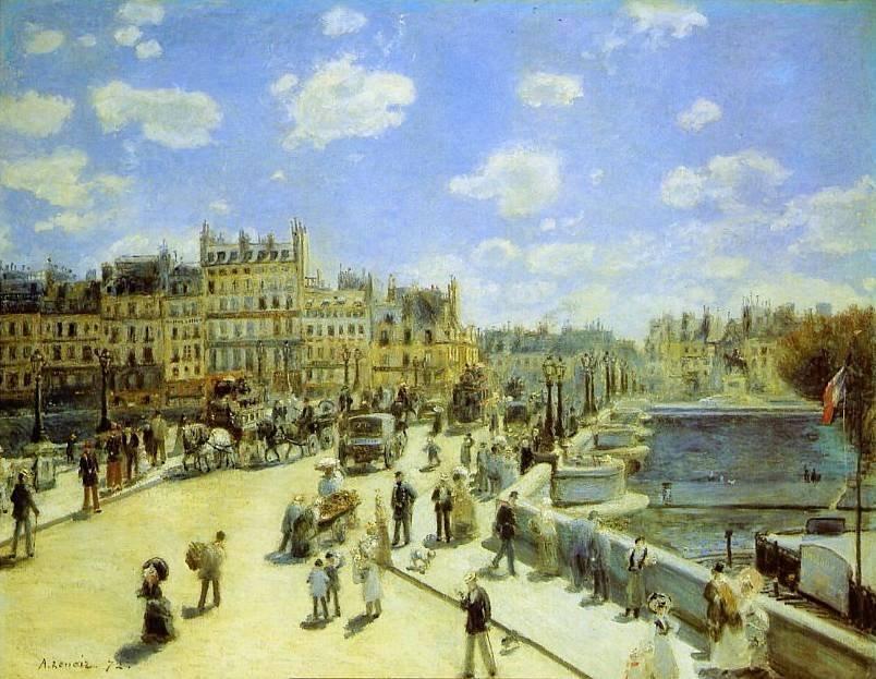 Le Pont Neuf vu par Auguste Renoir en 1872 #ParisAvant https://t.co/NTAZpddNjs