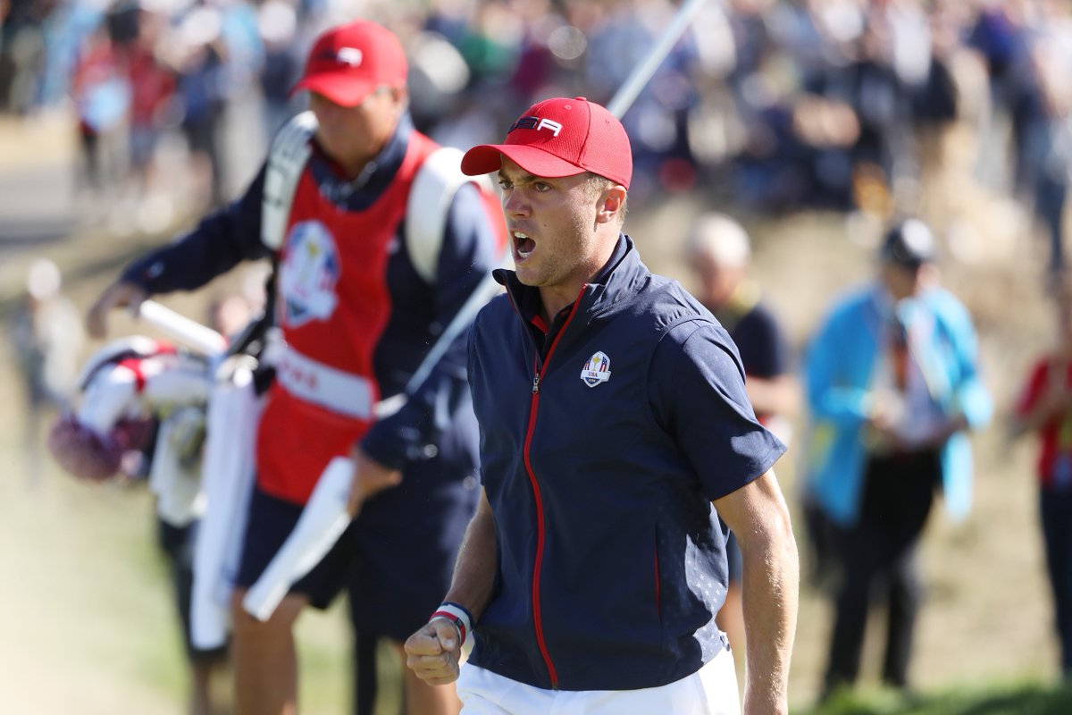 Justin Thomas Defeats Rory Mcilroy 1 Up To Earn His 4th Point Of