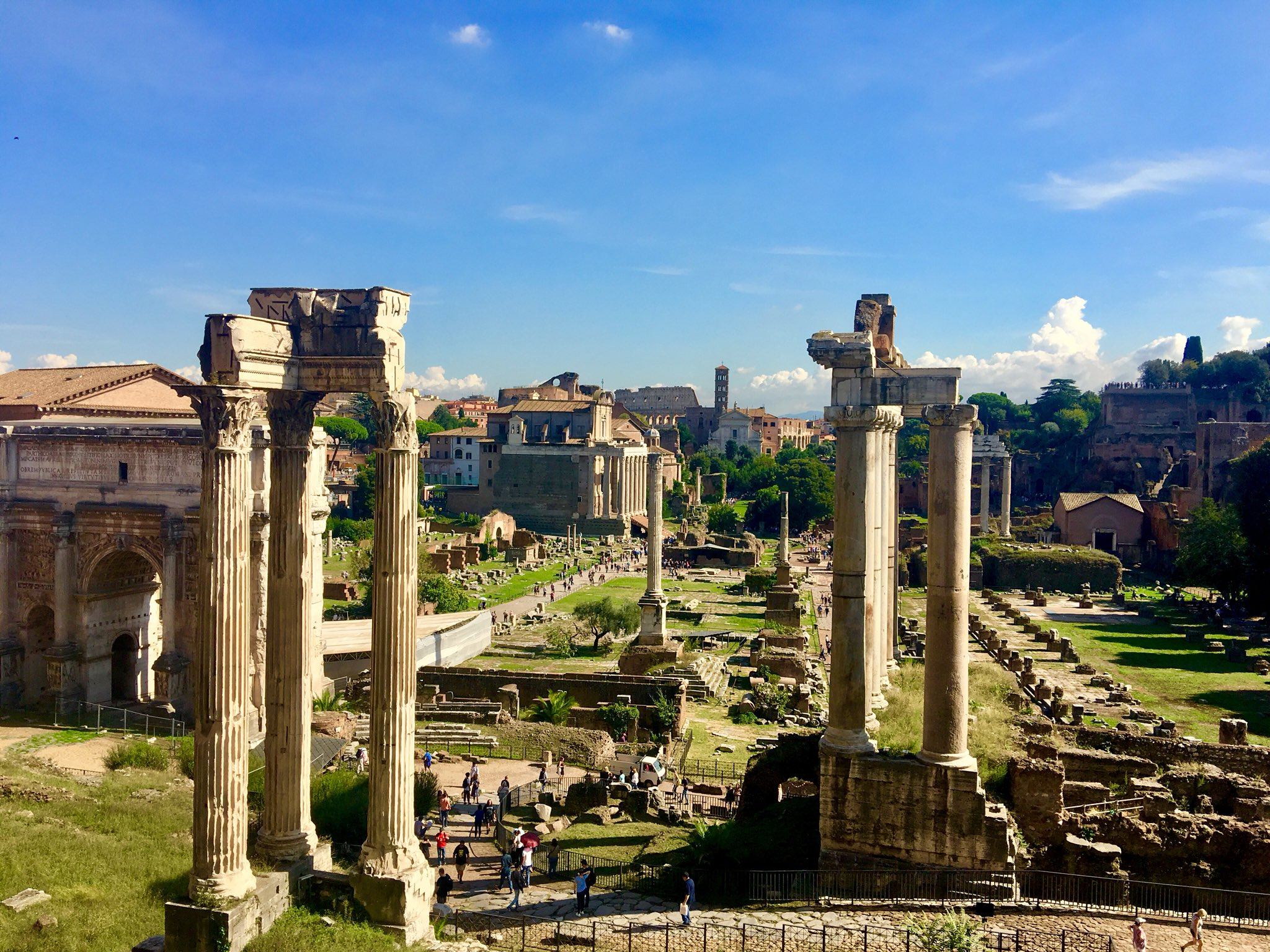 Odyssey Italy 2018, View from the Capitoline Museum deck over looking the Roman Forum. https://t.co/rCikoOUOmy