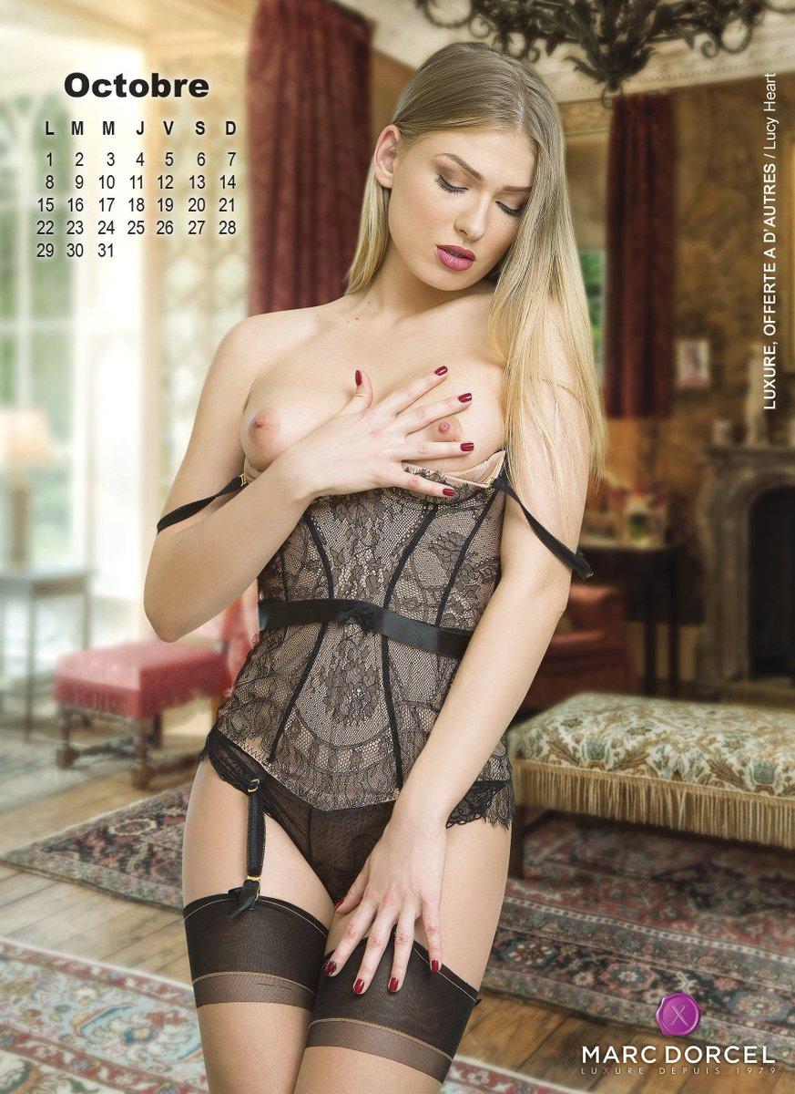 En octobre, la belle blonde est votre #MissDorcel !  #DorcelCalendar #October #LucyHeart