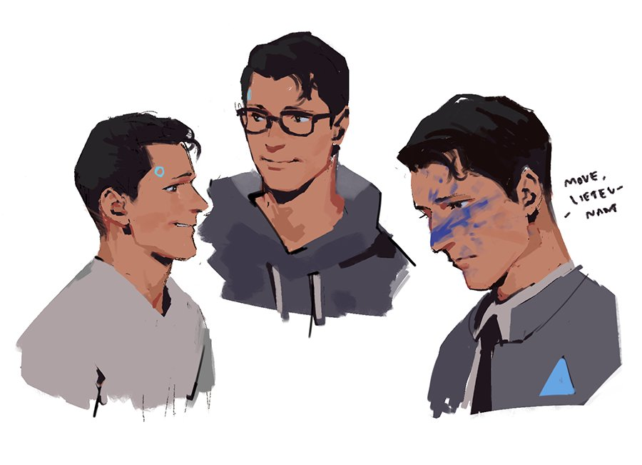 RT @karanoidandroid: tried to doodle + paint today #DetroitBecomeHuman https://t.co/1A5fy9MQrQ