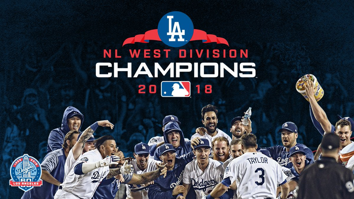RT @Dodgers: NL WEST CHAMPS!   The Dodgers have won their SIXTH consecutive division title! #LADetermined https://t.co/iD5ReJIcUc