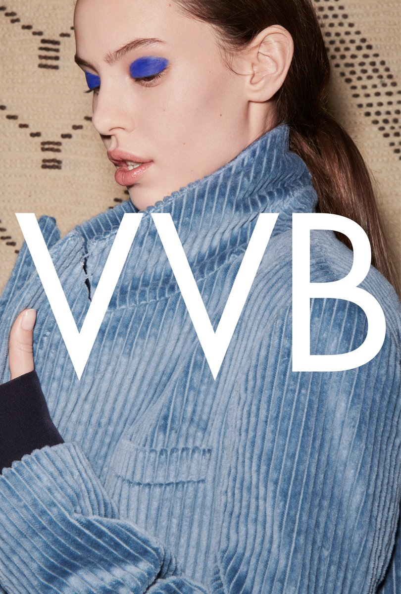 Steel blue corduroy velvet. Visit https://t.co/Armuv4K7Wp or #VBDoverSt to shop the #VVBAW18 collection! https://t.co/DABSp9pxer
