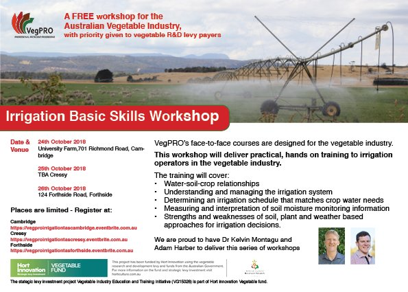 Looking to upskill in irrigation? @VegetablePRO...