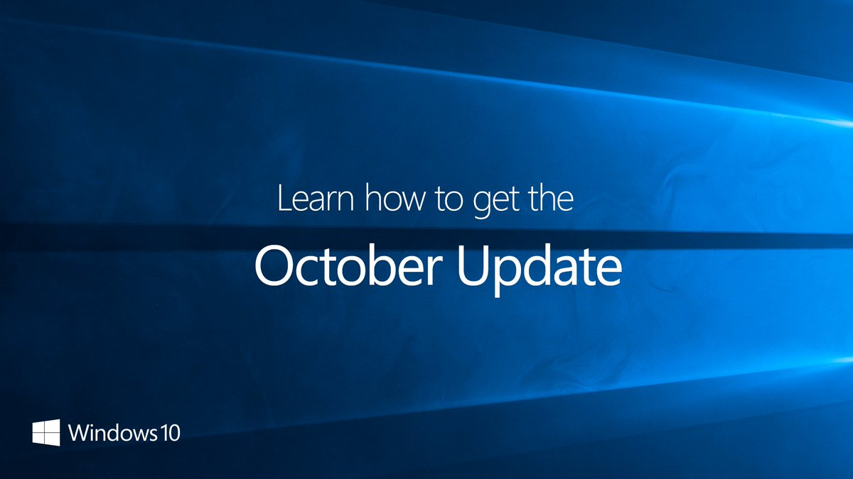 The #Windows10 October 2018 Update is here. And how you get it is easier than ever. Learn more here: http://msft.social/7QOun9 #MicrosoftEvent