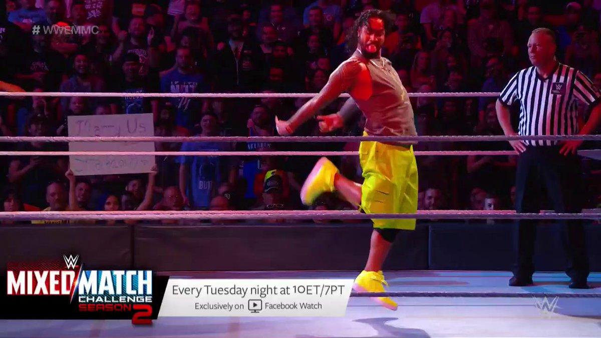 RT @WWE: .@RusevBUL wasn't feeling the #DanceOff as much as his wife @LanaWWE... #WWEMMC @WWEUsos @NaomiWWE https://t.co/XJKck3dqPF