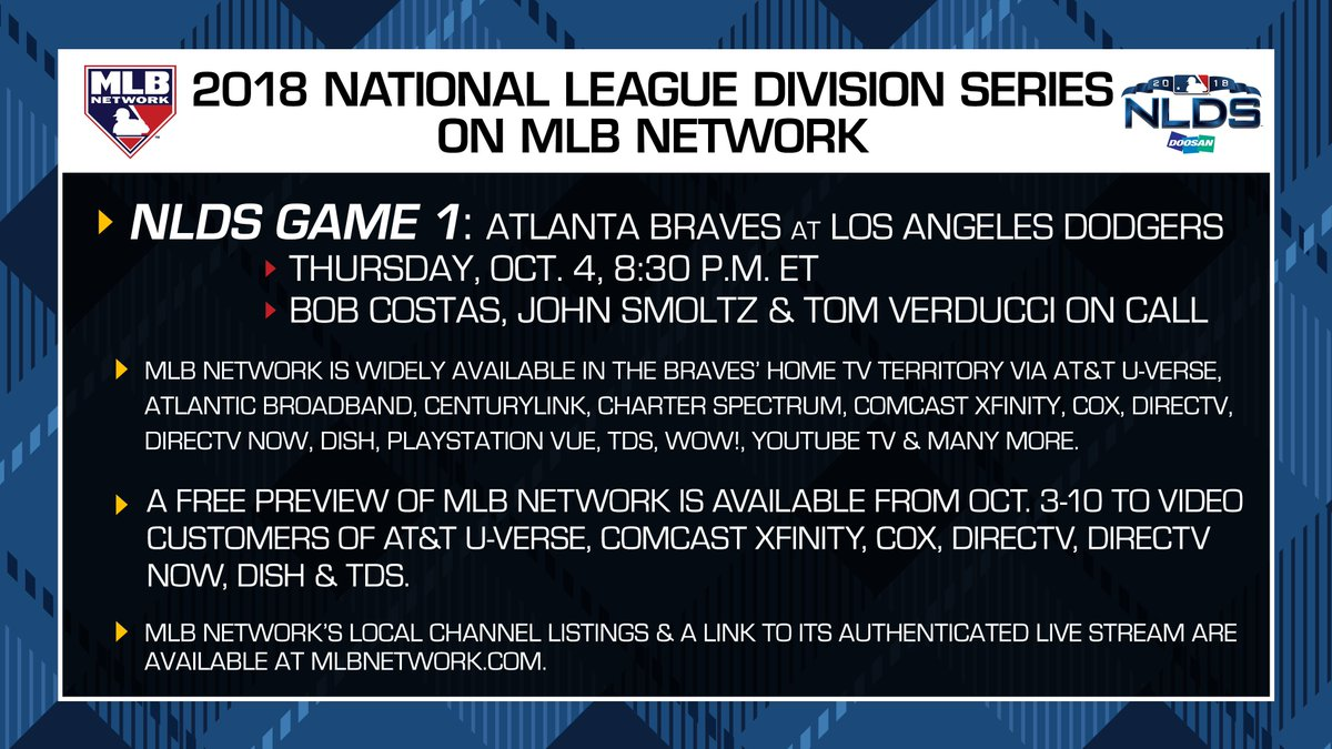 hey @braves fans, nlds game 1 is on mlb network tomorrow! here's the