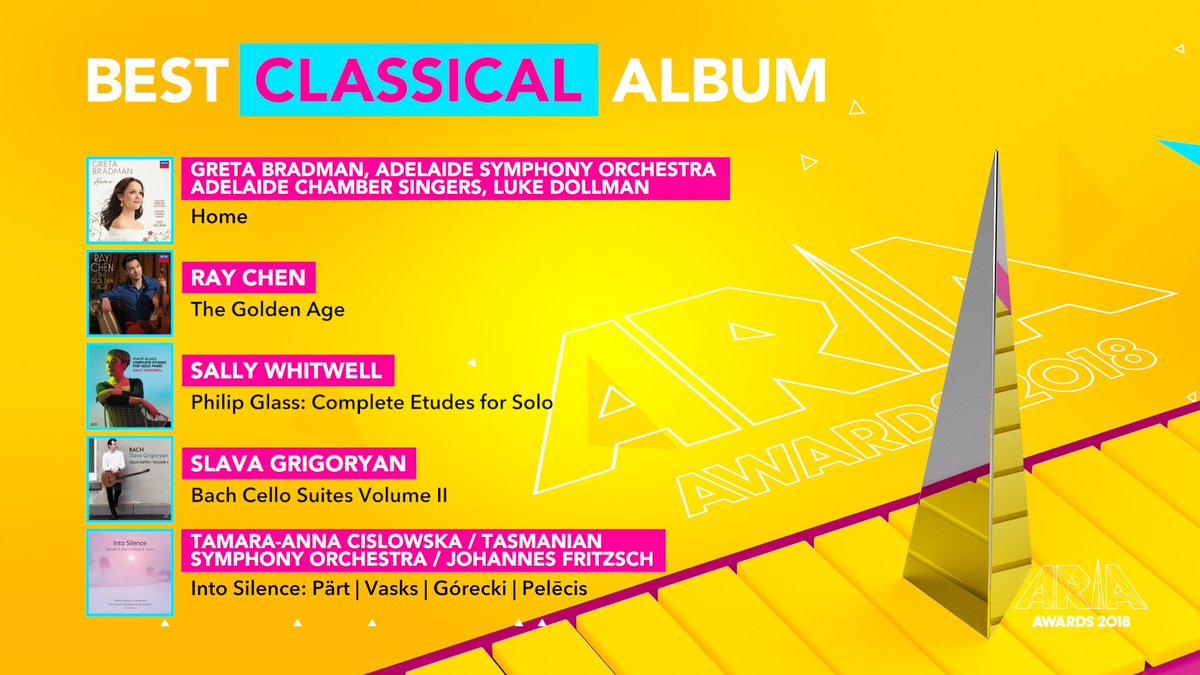 RT @ARIA_Official: Congratulations to the 2018 #ARIAs Best Classical Album nominees! https://t.co/HJD3xV2iQY