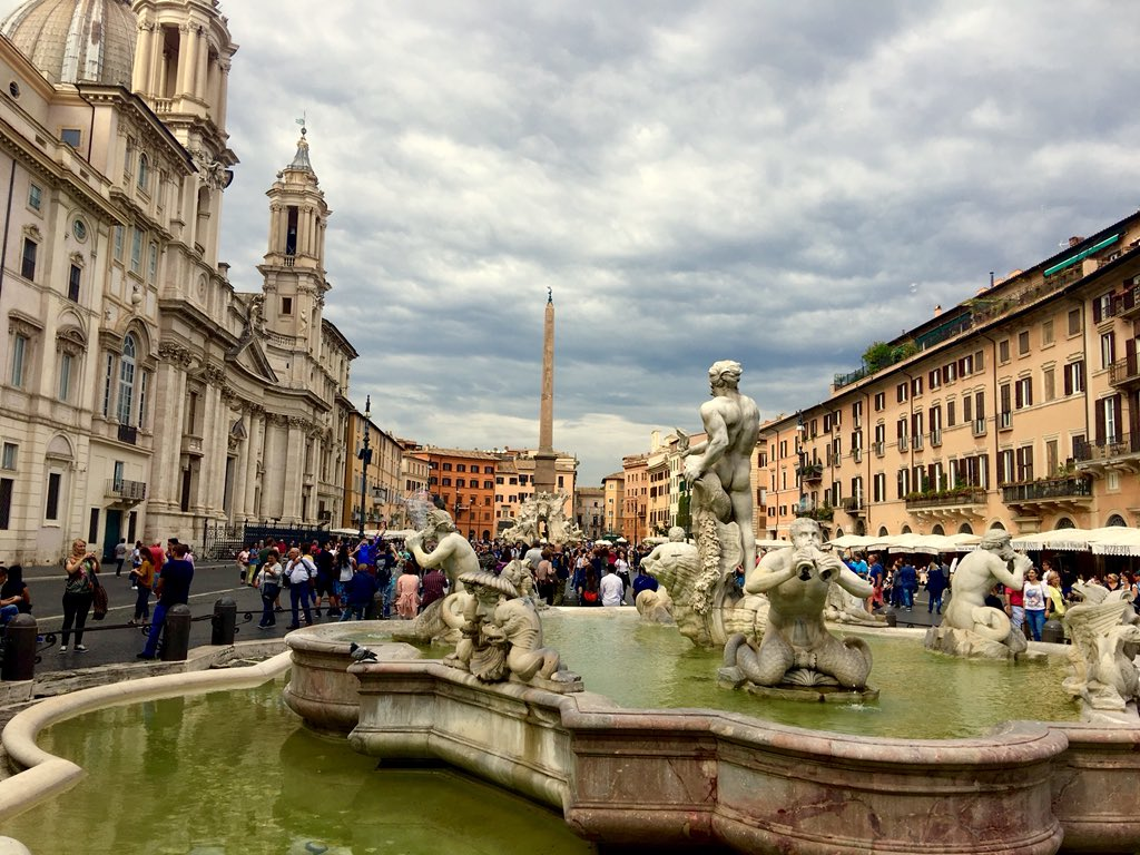 Odyssey Italy 2018, Piazza Navona built in the 1st century AD, and follows the form of the open space of the stadium. https://t.co/gHKZaE4XZu