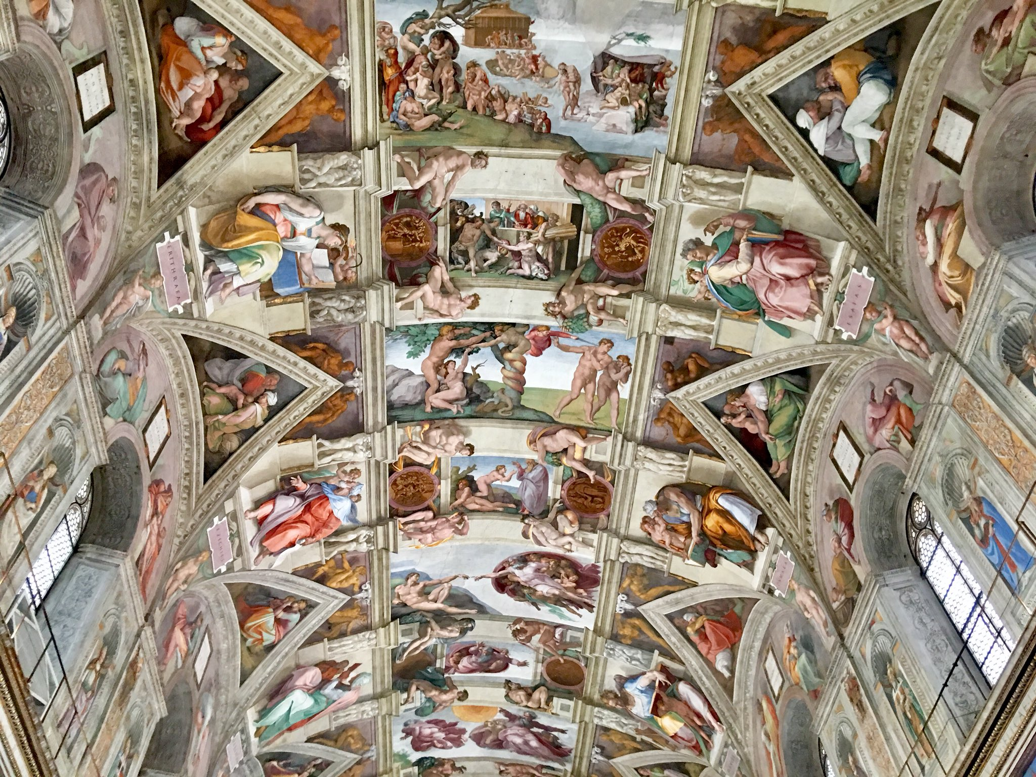 Odyssey Italy 2018, The Sistine Chapel ceiling, painted by Michelangelo between 1508 and 1512 (over 500 years ago), is a cornerstone work of High Renaissance art. https://t.co/p4BNF77Aco