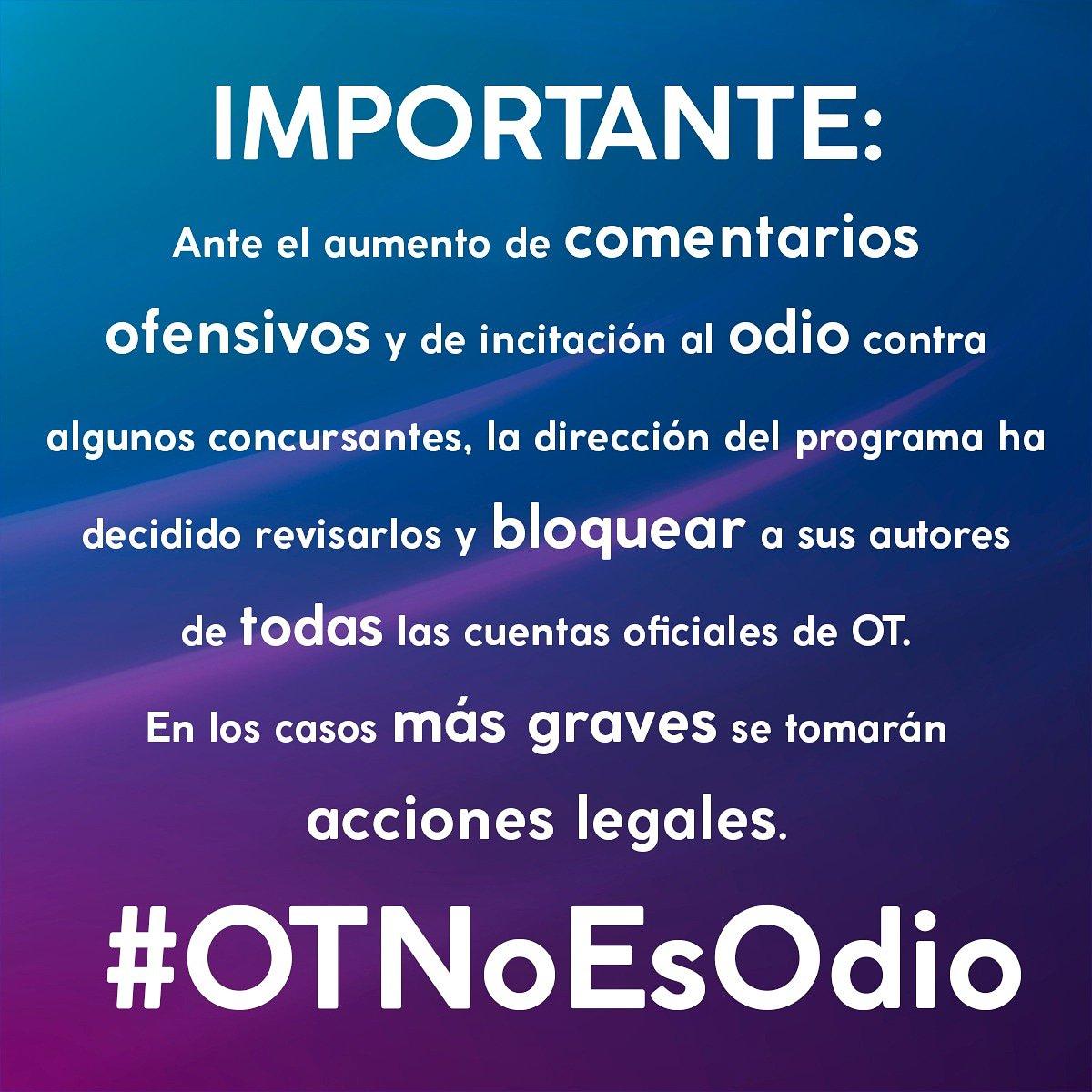 RT @mariaot2018: #OTNoEsOdio https://t.co/M7lr629EBg
