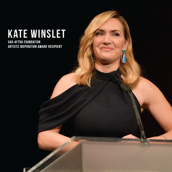 Happy Birthday to our 2017 Artists Inspiration Award recipient Kate Winslet!