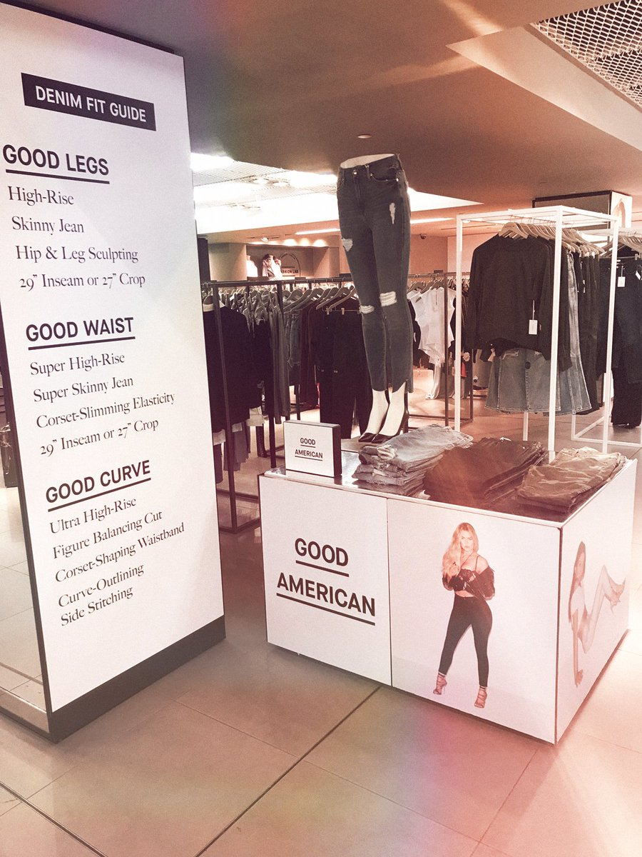 London!! Check out our @goodamerican pop-up at @harrods now through October 15!! https://t.co/9hbz1qusd5