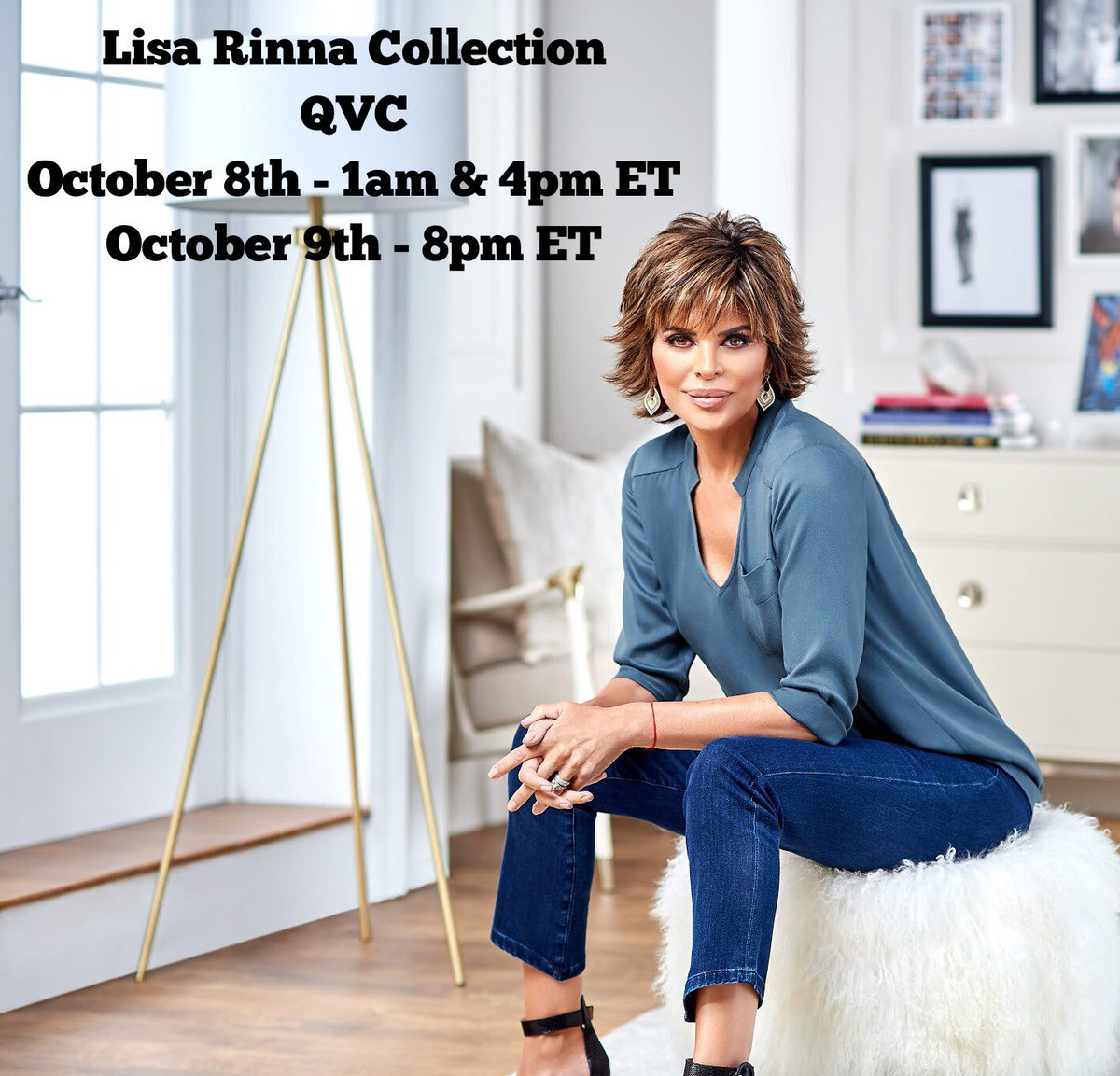 Back to @QVC this Monday and Tuesday with my #LisaRinnaCollection! ???????????????? https://t.co/X1GVAoqtl0