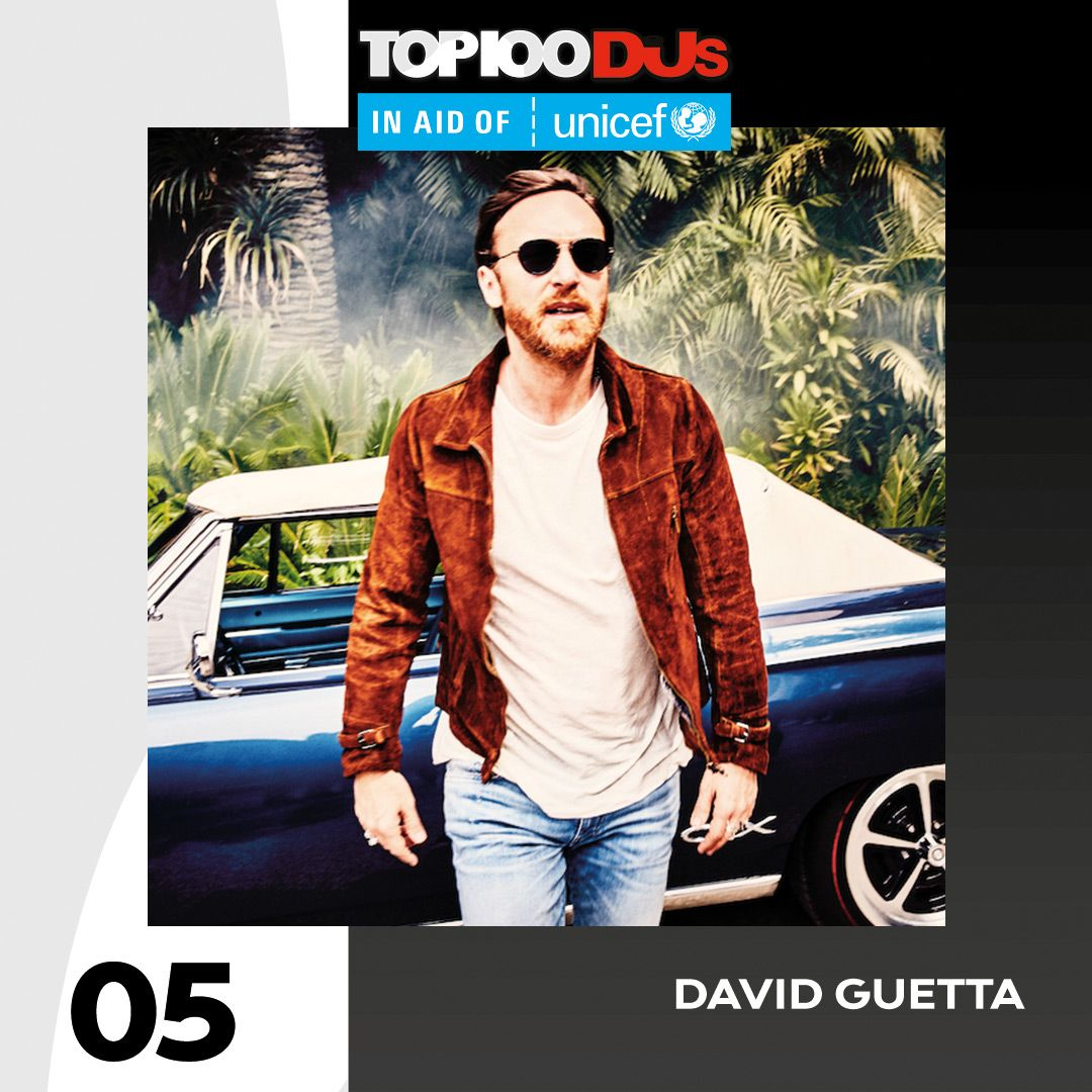 RT @DJmag: Up two spots to No. 5, it's @davidguetta #Top100DJs in aid of @Unicef_UK https://t.co/i4qQA0iEOM