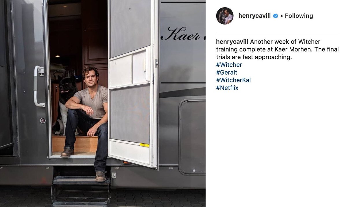 Henry Cavill is training 💪 but this time it's for Netflix's #Witcher https://t.co/5wl0w3C8j6