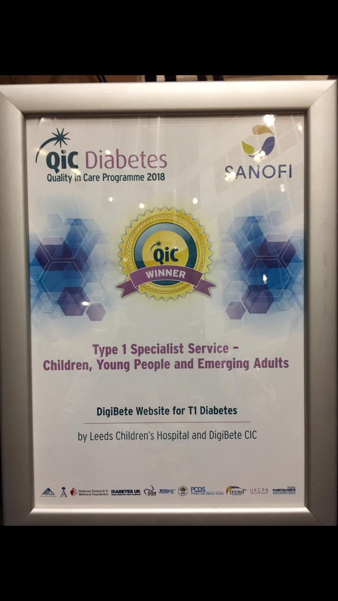 test Twitter Media - Great to be part of this fab team @DigiBeteUK team for winning a #qicdiabetes #award for #type1 specialist service for children, young people and emerging adults.A fantastic #website to #support young people with #t1dm 🥂🍾 😘 https://t.co/Owf6ToJIUq