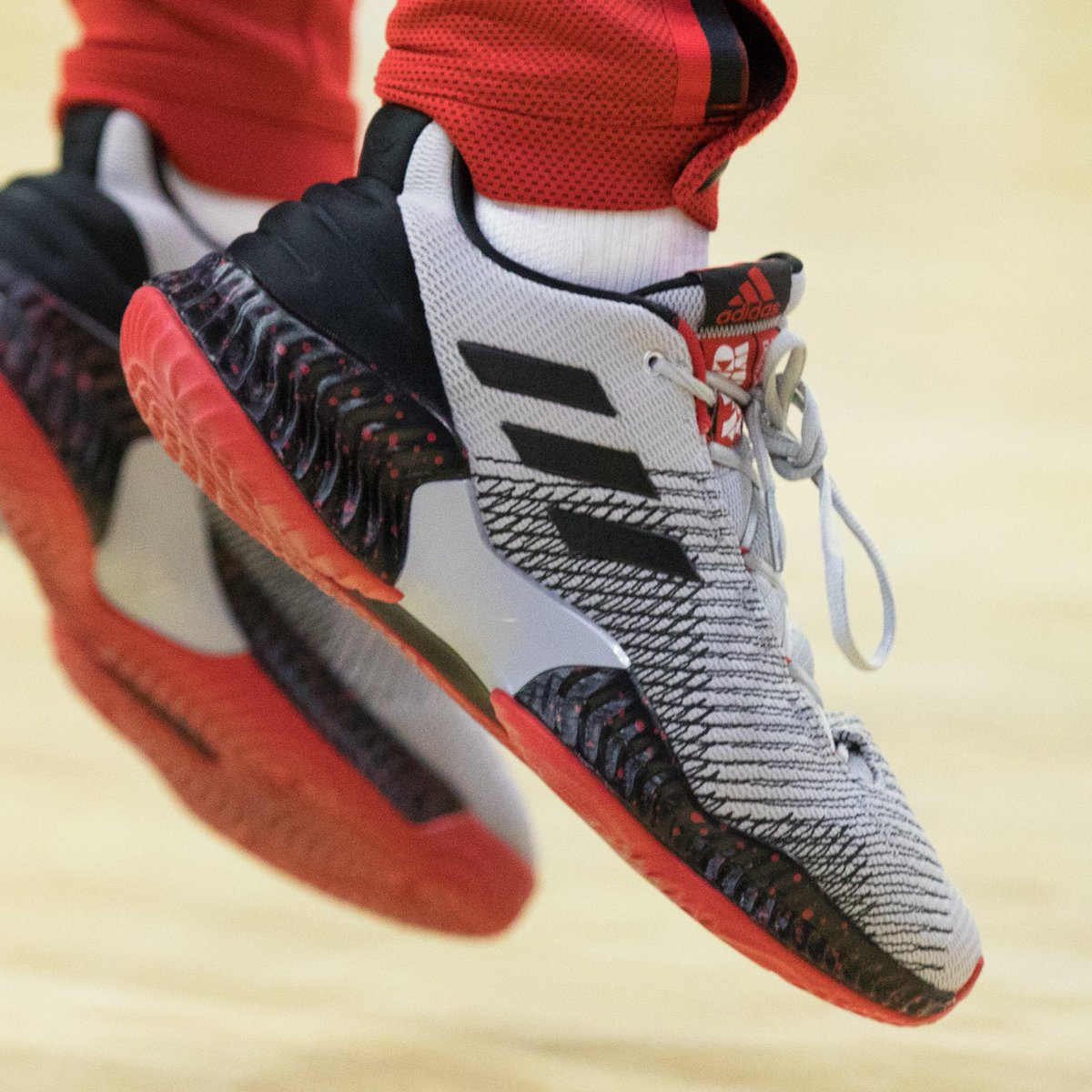 the latest 8f6d2 92d9a SoleWatch ZachLaVine wearing an Adidas Pro Bounce 2018 Low PE. 📸