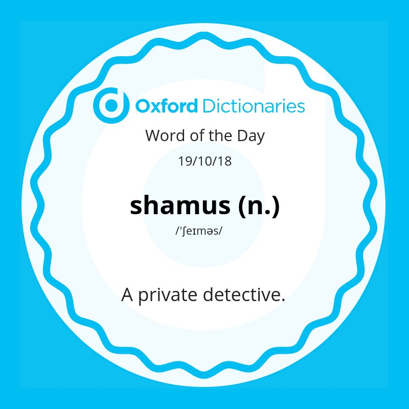 test Twitter Media - Word of the Day: shamus - a private detective https://t.co/T2uhquE75J https://t.co/jice3Tu6lR
