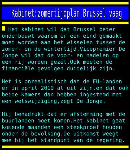 test Twitter Media - Kabinet:zomertijdplan Brussel vaag https://t.co/zuatQzQucA