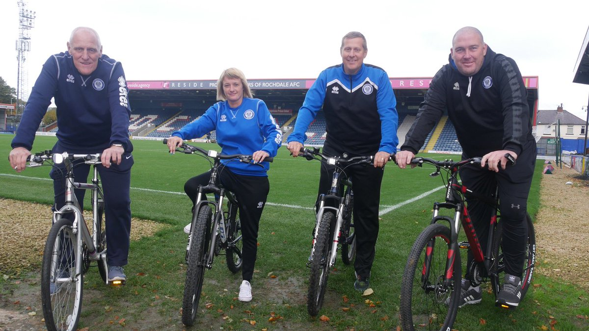 test Twitter Media - 🚴‍♂️🚴‍♀️ @DaleSportsTrust staff are cycling to today's match at Bradford City in aid of The Christie Hospital and Macmillan Cancer Support.  Good luck everyone! Follow the link below to see how you can donate to two great causes.  👉 https://t.co/lijQwBCTGY #RAFC https://t.co/t4QR7VzOfK