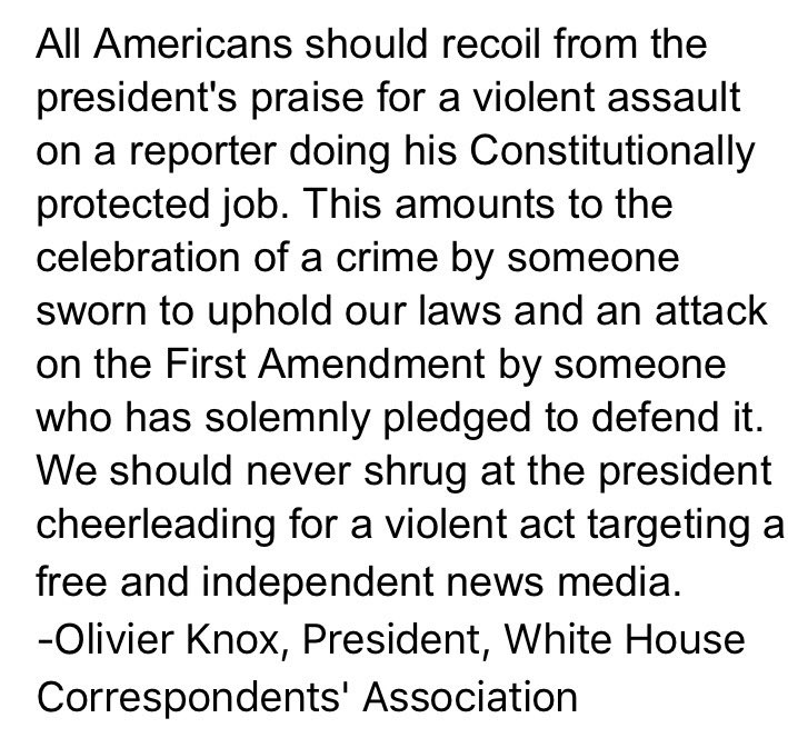 RT @whca: WHCA Statement on President's Remarks in Montana https://t.co/vOwn6riBES