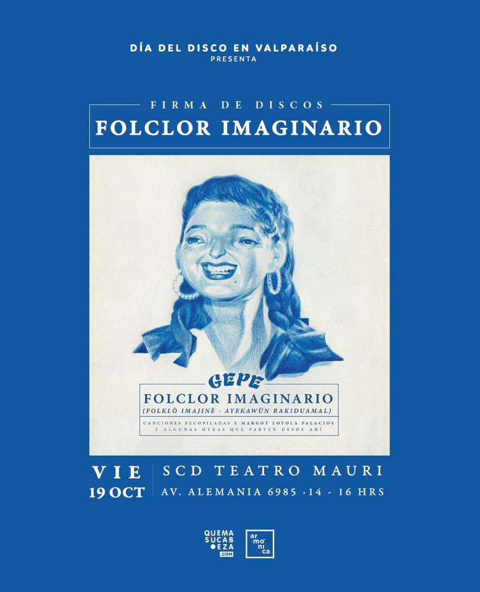 """test Twitter Media - ¡ Hoy #SCDValparaíso recibe a @gepegepegepe en el #DíadelDisco! En la instancia el artista estará firmando su disco """"Folclor Imaginario"""", disco tributo a la destacada  folclorista Margot Loyola.  ¡Puedes obtener en la sala tu disco y firmarlo desde las 14 a 16 hrs! 🙌 https://t.co/26Sh7APEks"""