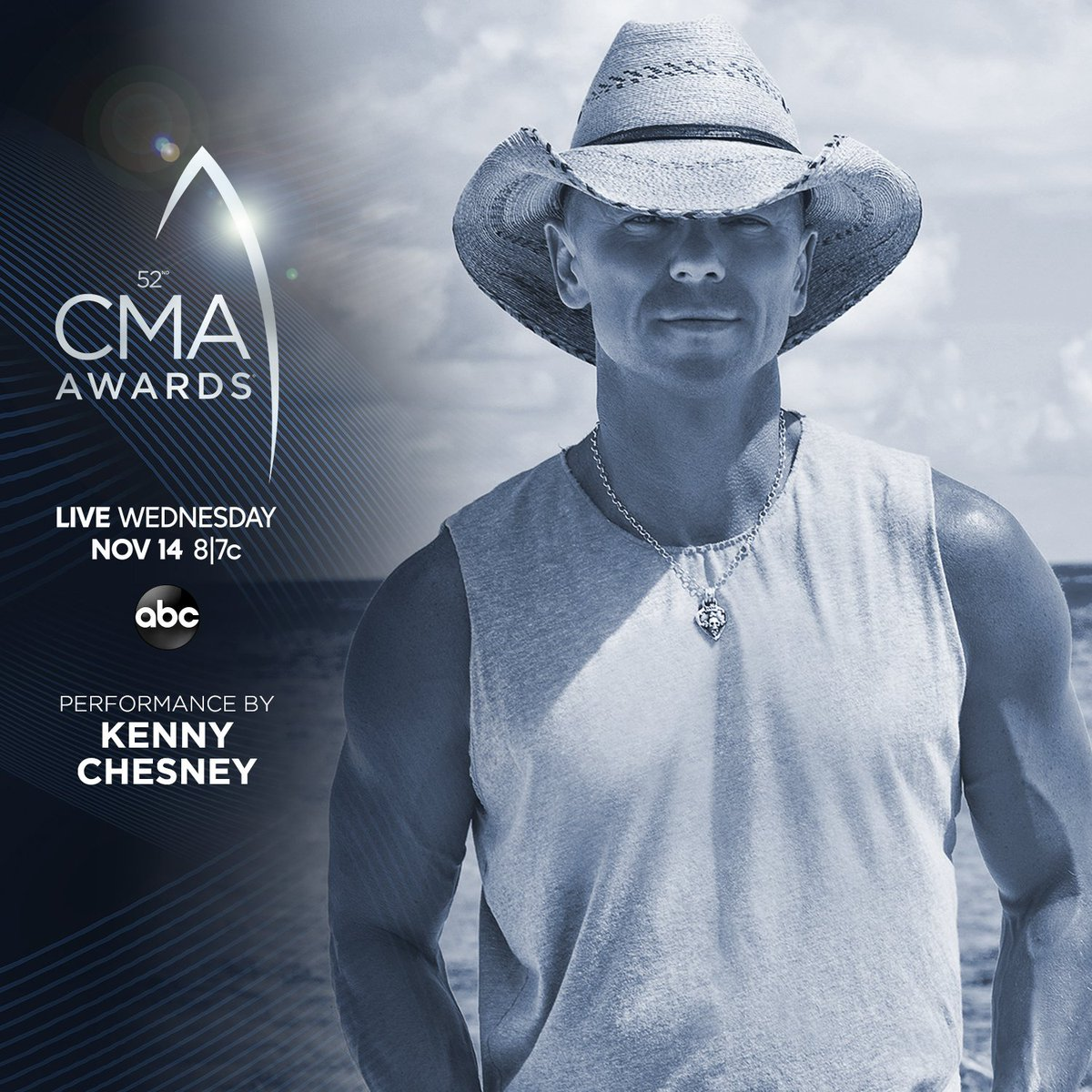 RT @kennychesney: Watch Nov 14 on @ABCNetwork. #CMAawards @CountryMusic https://t.co/79Shn87GRN