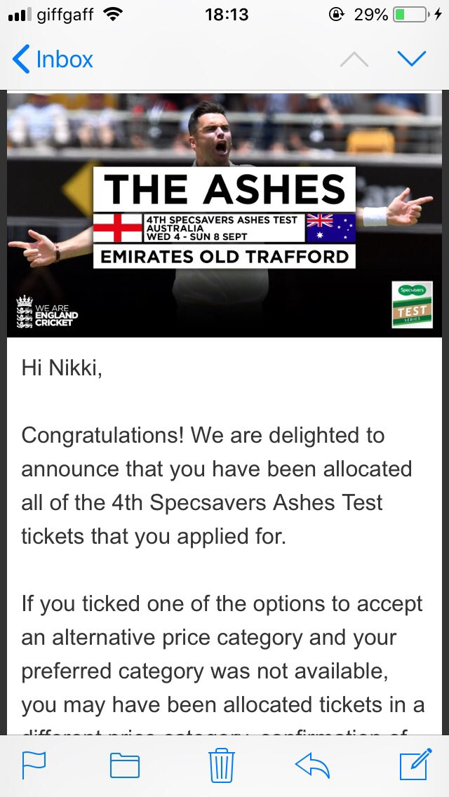 IM GOING TO THE ASHES 🏏😬😬😬😬 #ashes2019 #ENGvAUS https://t.co/f6wDokzIAg