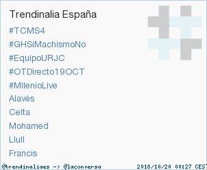 #MilenioLive acaba de convertirse en TT ocupando la 5ª posición en España. Más en https://t.co/K5DFqqcseW #trndnl https://t.co/KmEFKCk1bj