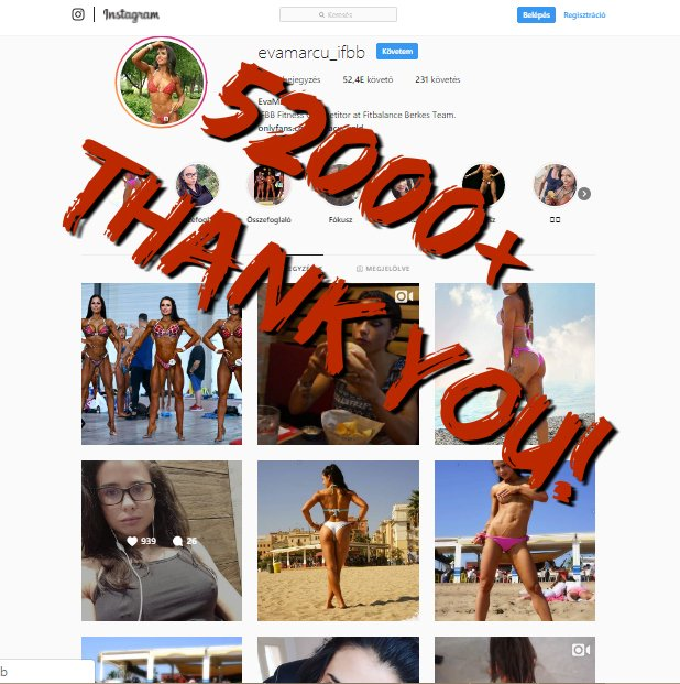 52000+ Fans on Instagram! Thank you!❤️😜💪👄😘 npFld3Sx11