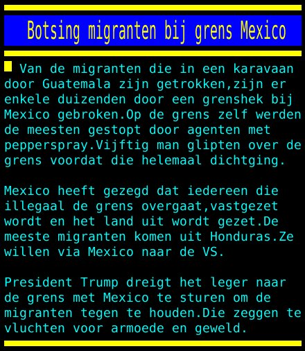 test Twitter Media - Botsing migranten bij grens Mexico https://t.co/WyFwrHWqr6