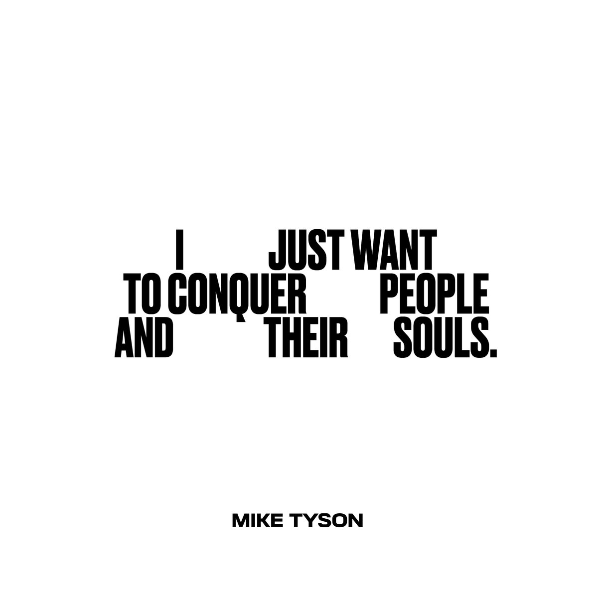 I just want to conquer people and their souls. #miketyson #vintagetyson https://t.co/x5es4ezLEw