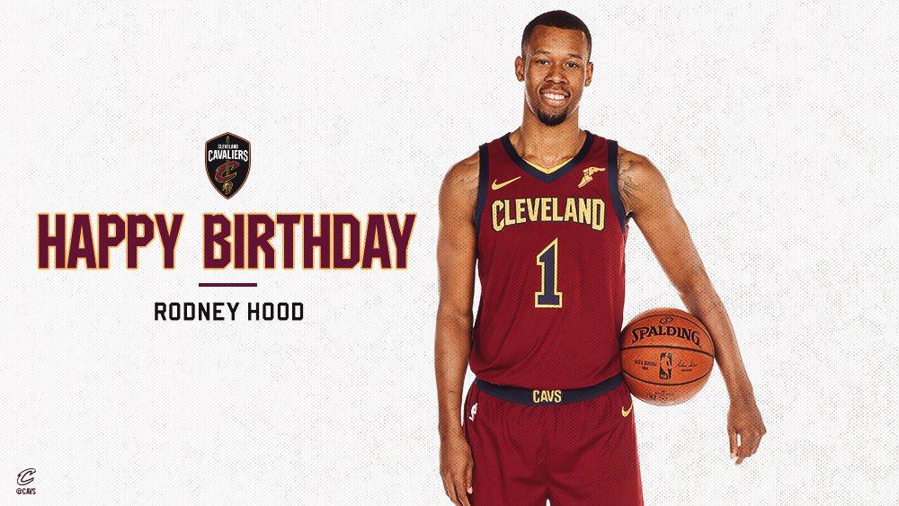 RT @cavs: Happy Birthday, @RodneyHood!🎉  RETWEET to help wish Rodney a HBD.  📸 → https://t.co/De0R8rBUwW https://t.co/TiHedXQXmF