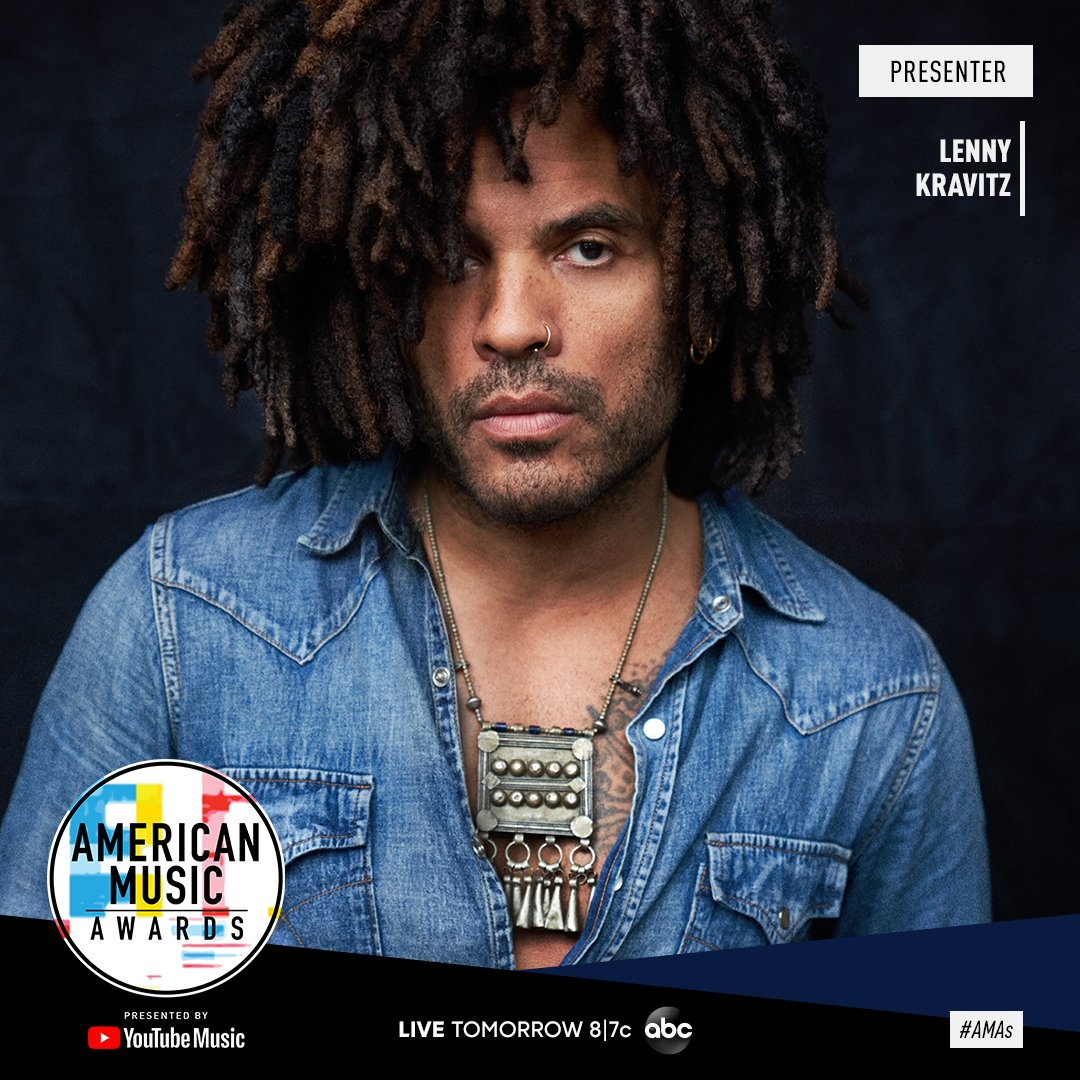 Lenny will be an official presenter at the @AMAs, TOMORROW at 8/7c on @ABC. Don't miss it! - Team LK #AMAs https://t.co/L7bytmidX7